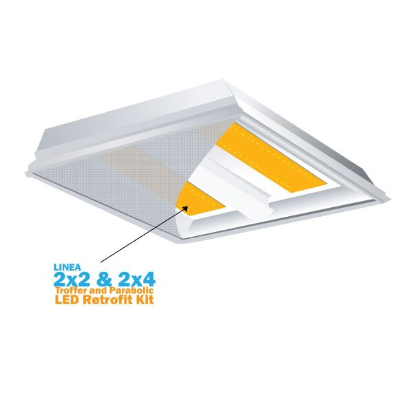 Linea LED Recessed Retrofit Downlight by Deco Lighting