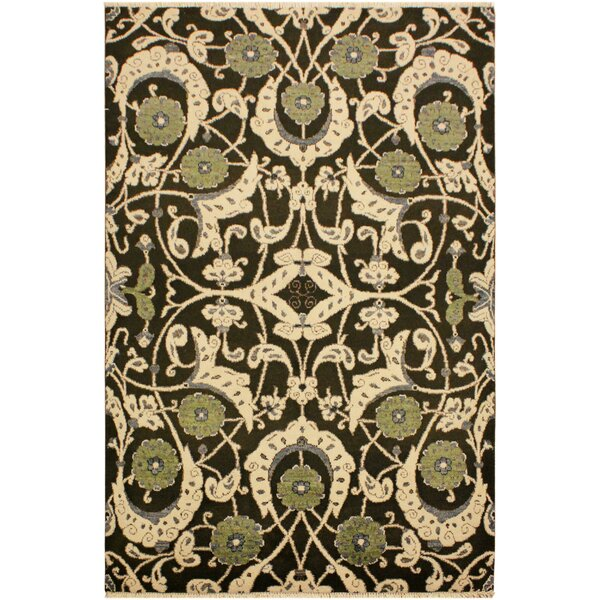 One-of-a-Kind Lyle Peshawar Hand Knotted Wool Brown/Green Area Rug by World Menagerie