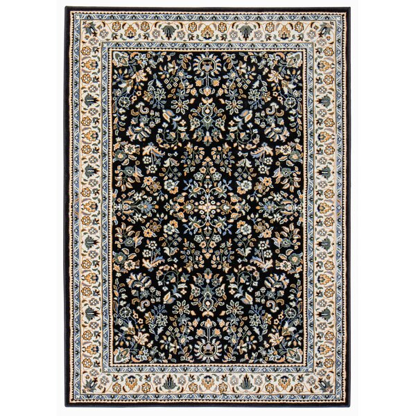 Assante Black/Cream Area Rug by Charlton Home