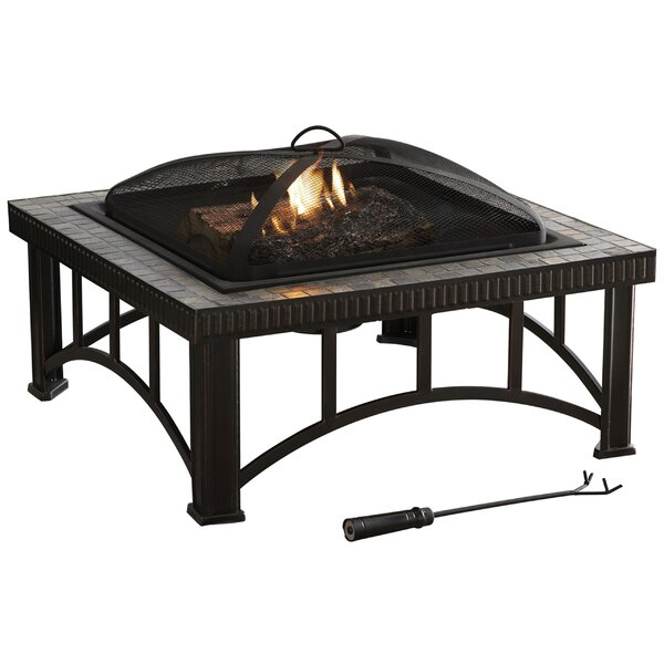Hampton Steel Wood Burning Fire Pit by Pleasant Hearth