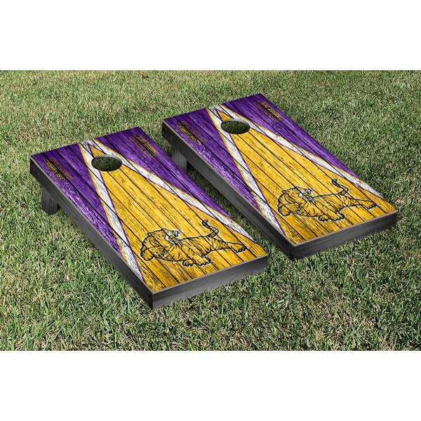 LSU-Eunice Bengals Triangle Weathered Version Cornhole Game Set by Victory Tailgate