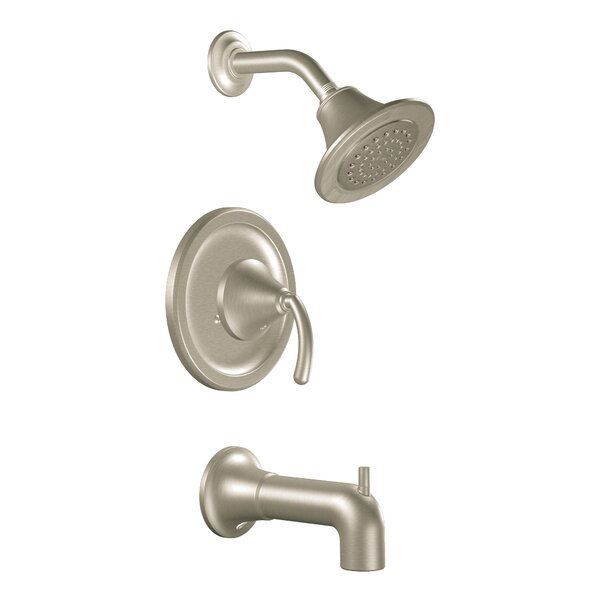 Icon Pressure Balance Tub and Shower Faucet with Lever Handle and Moentrol by Moen Moen