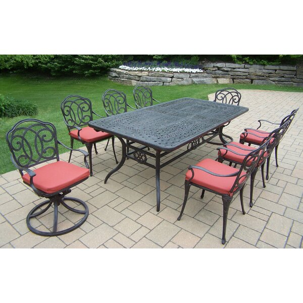 Berkley 11 Piece Dining Set with Cushions by Oakland Living