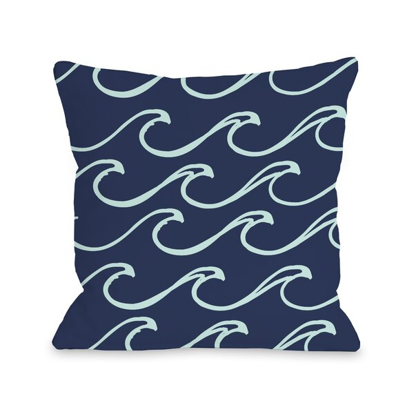 Kayla Wave Throw Pillow by One Bella Casa