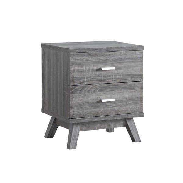 Stanhope 2 Drawer Nightstand by Wrought Studio