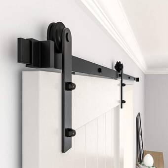Renin Cadium Bent Strap Standard Single Barn Door Hardware Kit Wayfair