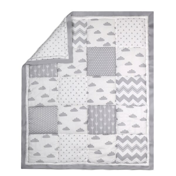 Cloud Patchwork Cotton Quilt by The Peanut Shell