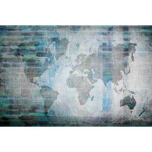 'The World In Blue' by Parvez Taj Painting Print on Wrapped Canvas by Parvez Taj