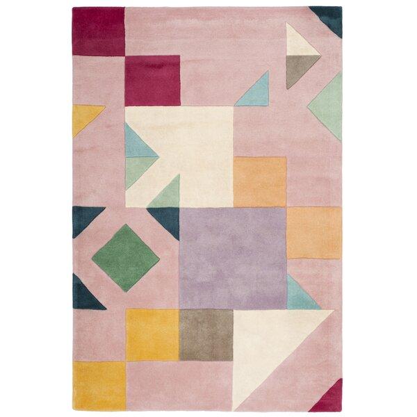Carlberg Hand-Tufted Pink/Orange Area Rug by Mercury Row
