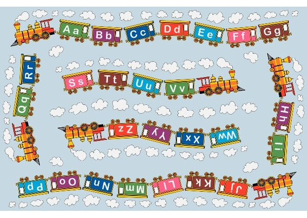Fun Time Edu Train Area Rug by Fun Rugs