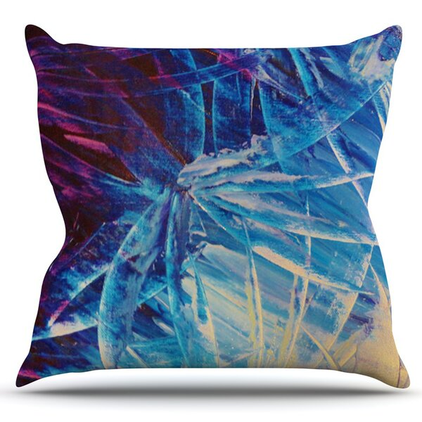 Night Flowers by Ebi Emporium Outdoor Throw Pillow by East Urban Home