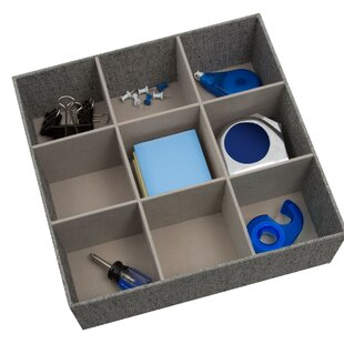 Low priced Nathan Arrow Weave Canvas 9 Compartment 3 H x 12 W x 12 D Drawer Organizer By Rebrilliant