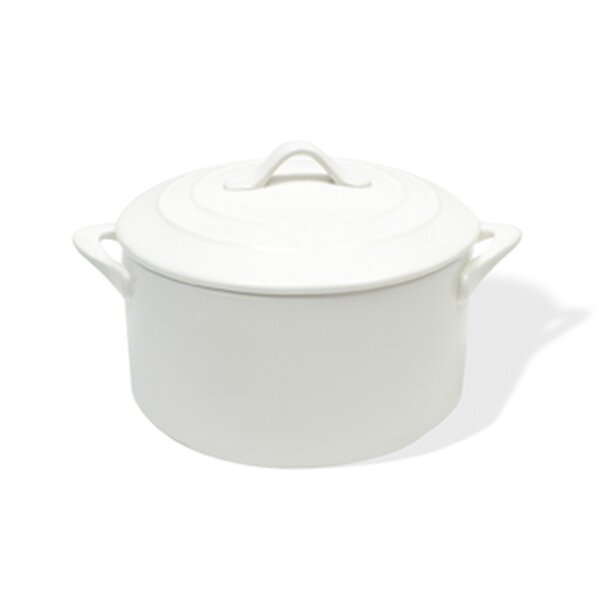 White Basics 3.72-qt. Round Casserole by Maxwell & Williams