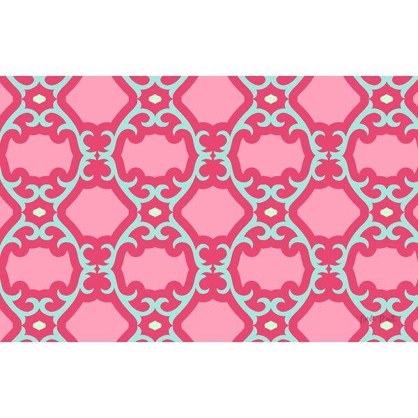 Francie Trellis Pink Geometric Area Rug by Manual Woodworkers & Weavers