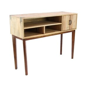 Allmon Rustic Mango Wood Stained Console Table by Foundry Select