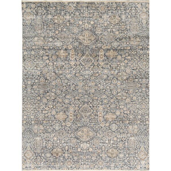 Canterbury Abstract Hand-Knotted Blue Area Rug