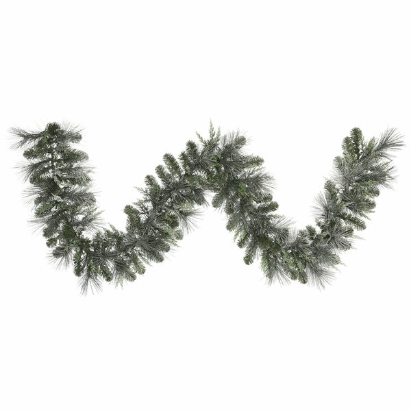 Frosted Mix Pine Garland by The Holiday Aisle
