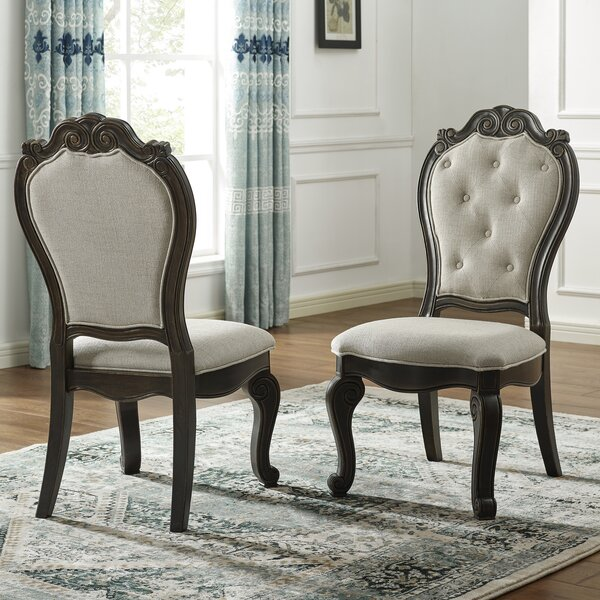Nueva Tufted Upholstered Side Chair in Espresso (Set of 2) by Astoria Grand Astoria Grand