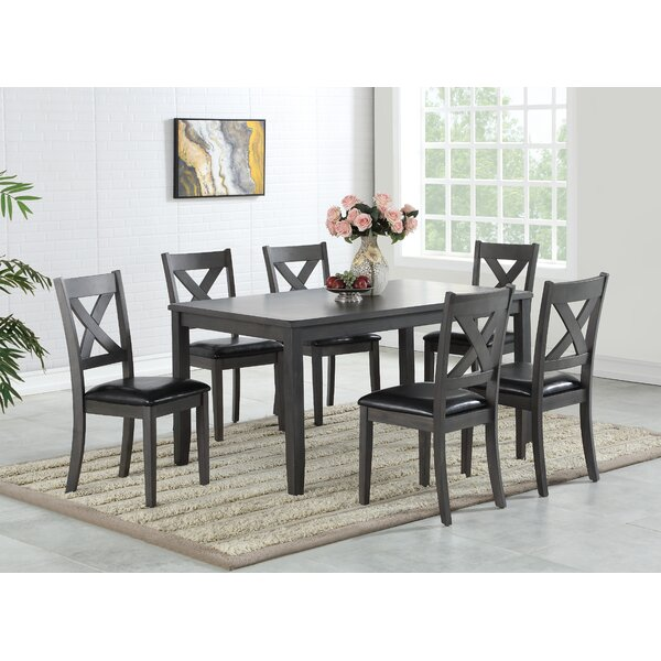 Rene 7 Piece Dining Set by Alcott Hill