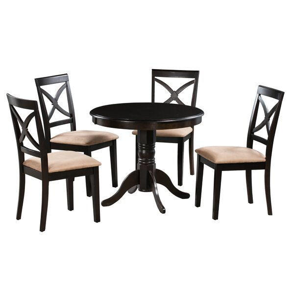 Lennon 5 Piece Solid Wood Dining Set by Alcott Hill