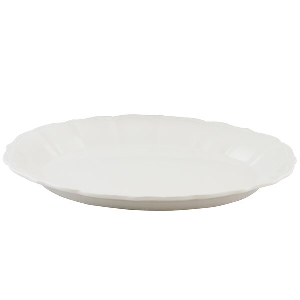 Merrill Oval Durastone Embossed Platter by Alcott Hill