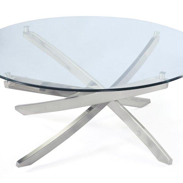 Zila Cross Legs Coffee Table By Magnussen Furniture