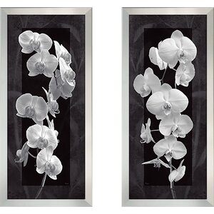 'Orchid Opulence I' 2 Piece Framed Graphic Art Print Set by Latitude Run