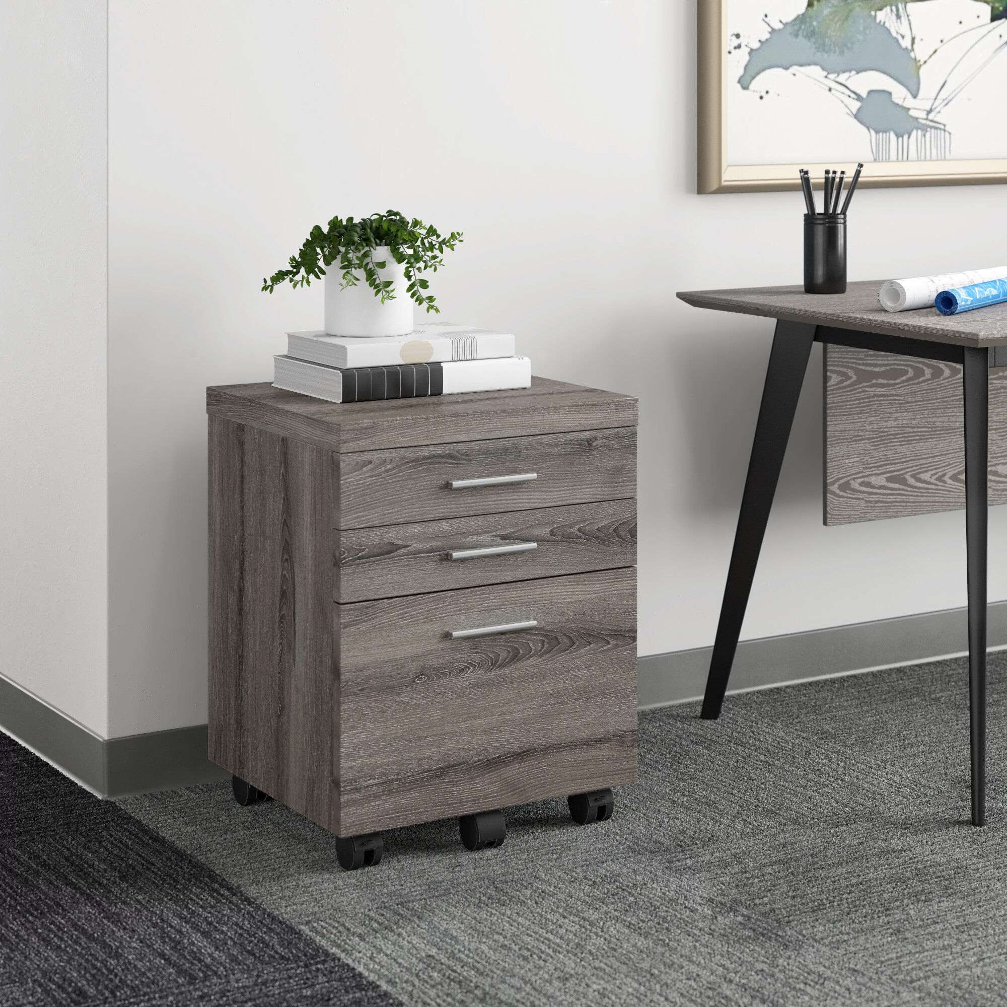 Picture of: Business Industrial Office Filing Cabinets Cabinet Organizer 2 Drawer Home Office Wood File Work Document Vertical Storage Studio In Fine Fr