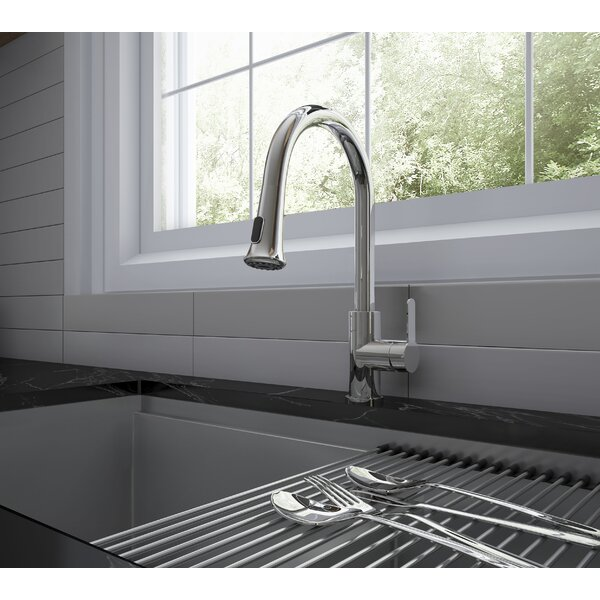 Rivella Pull Out Single Handle Kitchen Faucet by Ancona Ancona