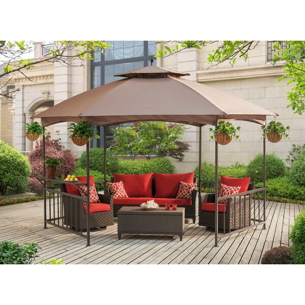 Replacement Canopy (Deluxe) for Madison Pavilion Hex Shape Soft Top Gazebo by Sunjoy
