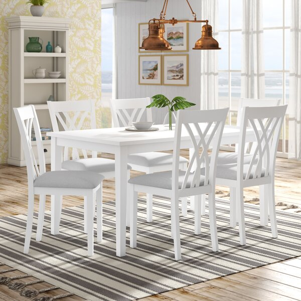 Gisella 7 Piece Breakfast Nook Dining Set By Highland Dunes