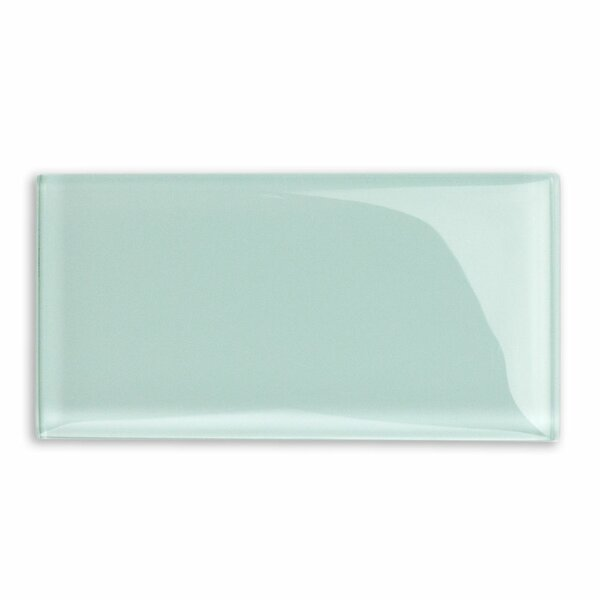 Contempo 3 x 6 Glass Subway Tile in Seafoam by Splashback Tile