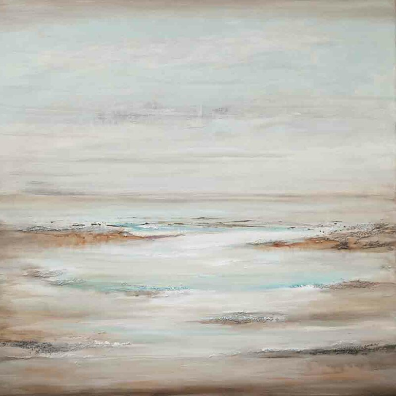 'Seascape III' Acrylic Painting Print on Canvas