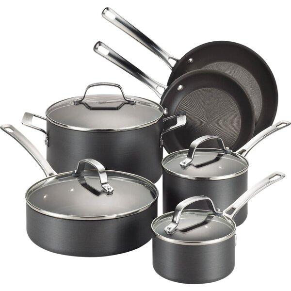 Genesis 10 Piece Hard Anodized Cookware Set by Circulon