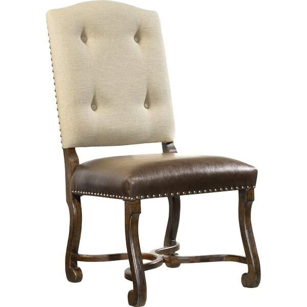 Treviso Tufted Upholstered King Louis Back Side Chair in Brown (Set of 2) by Hooker Furniture Hooker Furniture