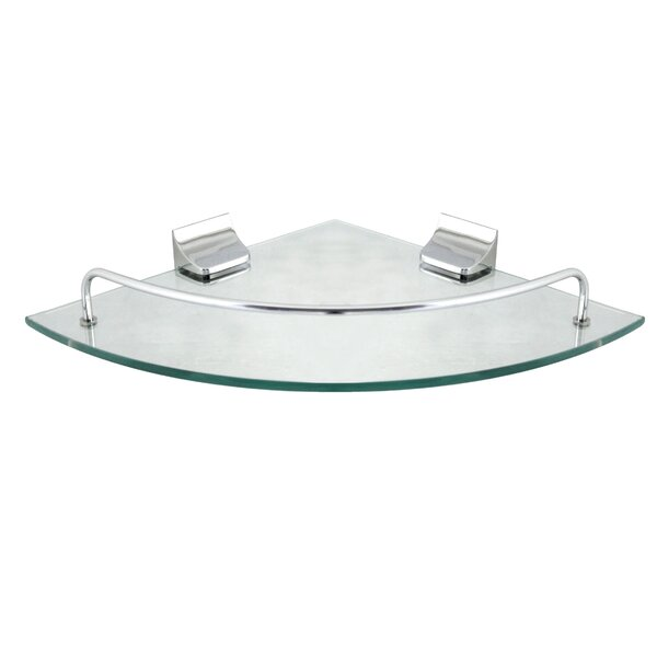 Glass Corner Wall Shelf by Modona