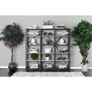 Rubenstein Wooden 5 Tier Metal Etagere Bookcase