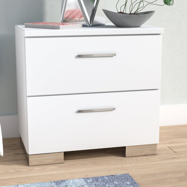 Hardwick 2 Drawer Nightstand by Wade Logan