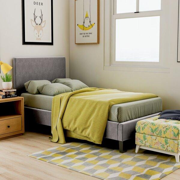 Crestline Upholstered Platform Bed by Wrought Studio