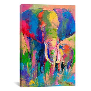Elephant by Richard Wallich Painting Print on Canvas by iCanvas
