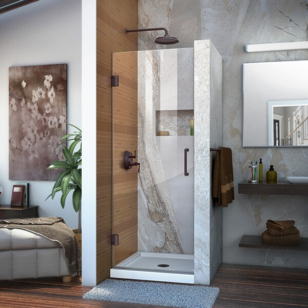Unidoor 30 x 72 Hinged Frameless Shower Door with Clearmax™ Technology by DreamLine