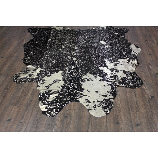 One-of-a-Kind Paquet Hand-Woven Cowhide Gold Indoor Area Rug by Union Rustic