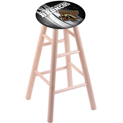 NCAA Vanity Stool Holland Bar Stool Color: Natural, NCAA Team: Western Michigan University