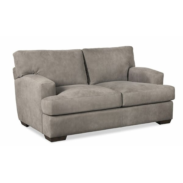 Ash Leather Loveseat By Craftmaster