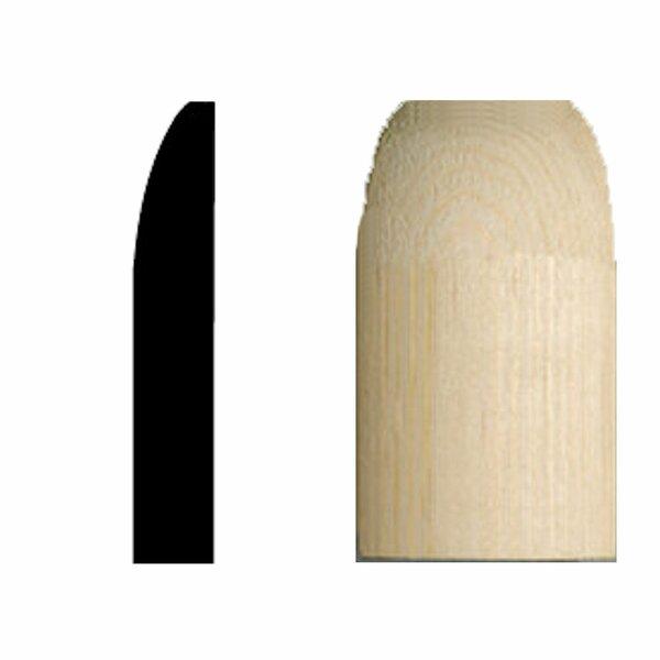 9/16 in. x 9/16 in. x 3-1/4 in. Pine Radius Base Corner Block Moulding by Manor House