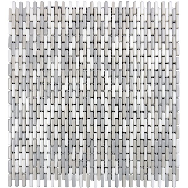 Constantine 0.18 x 0.81 Glass Mosaic Tile in Dagonet by Solistone