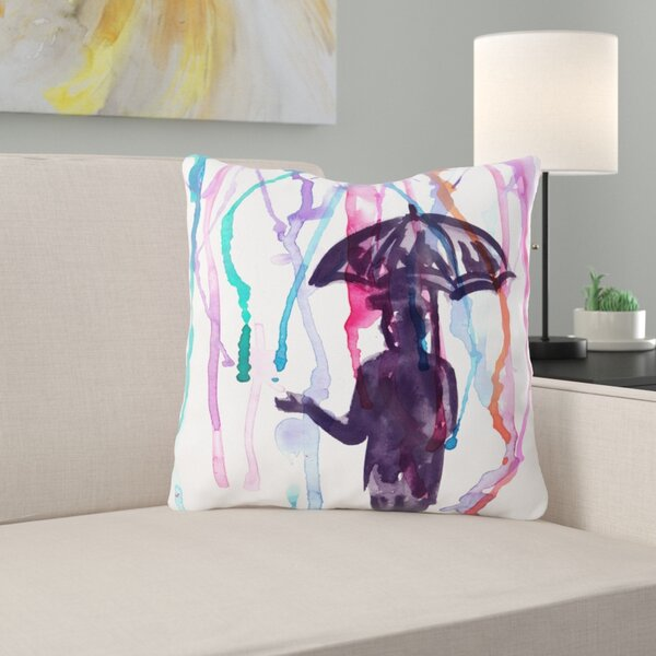Valetta Watercolor Throw Pillow