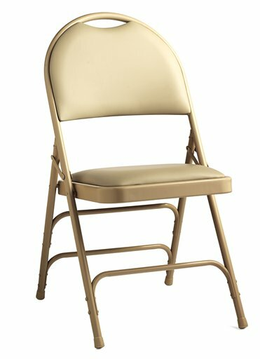 Comfort Series Leather Padded Folding Chair (Set of 4) by Samsonite Furniture