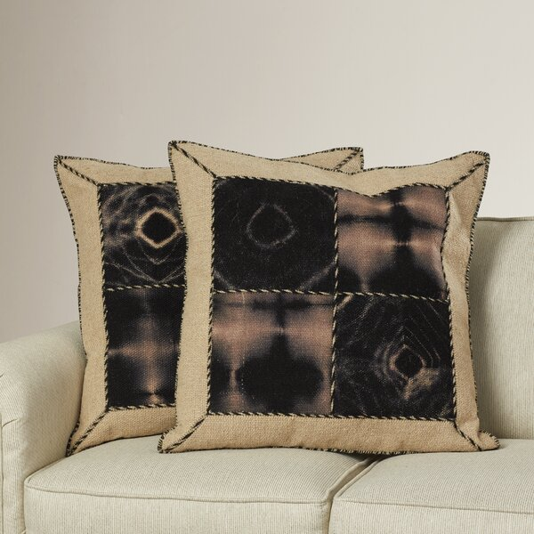 Tarnby Quartre Patch Decorative Throw Pillow (Set of 2) by Bungalow Rose