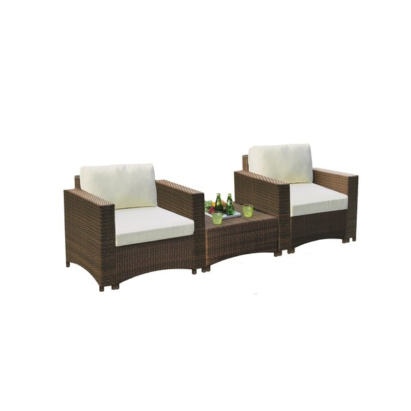 Nelligan Modular 3 Piece Seating Group with Cushions by Wrought Studio